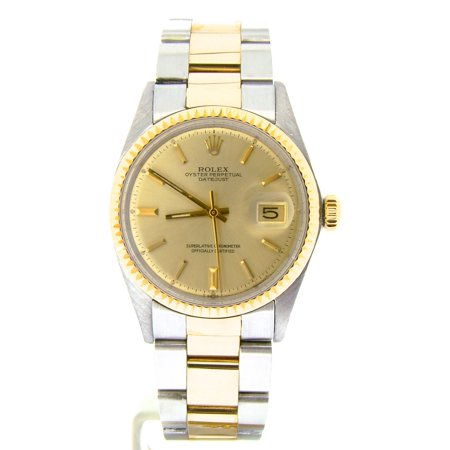 Pre-Owned Mens Rolex Two-Tone 14K/SS Datejust Champagne 1601 (SKU 3475861NBCMT)