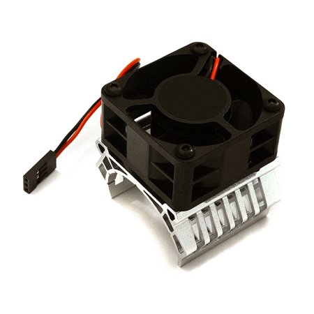 Integy RC Toy Model Hop-ups C28597SILVER 36mm Motor Heatsink+40x40mm Cooling Fan 16k rpm for Most 1/10 On-Road & Off-Road