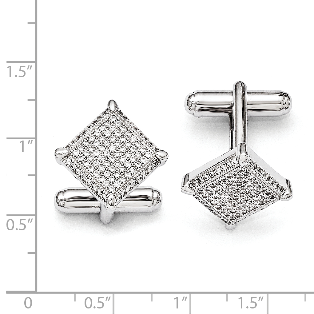 925 Sterling Silver Cubic Zirconia Cz Cufflinks Cuff Link Fine Jewelry Gifts For Women For Her - image 1 of 2