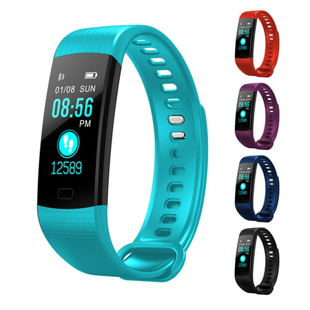 Fitness Tracker, Y5 Fitness Watch Activity Tracker :Heart Rate Monitor Wireless Smart Wristband Bracelet, Waterproof Fitness Watch for Android &