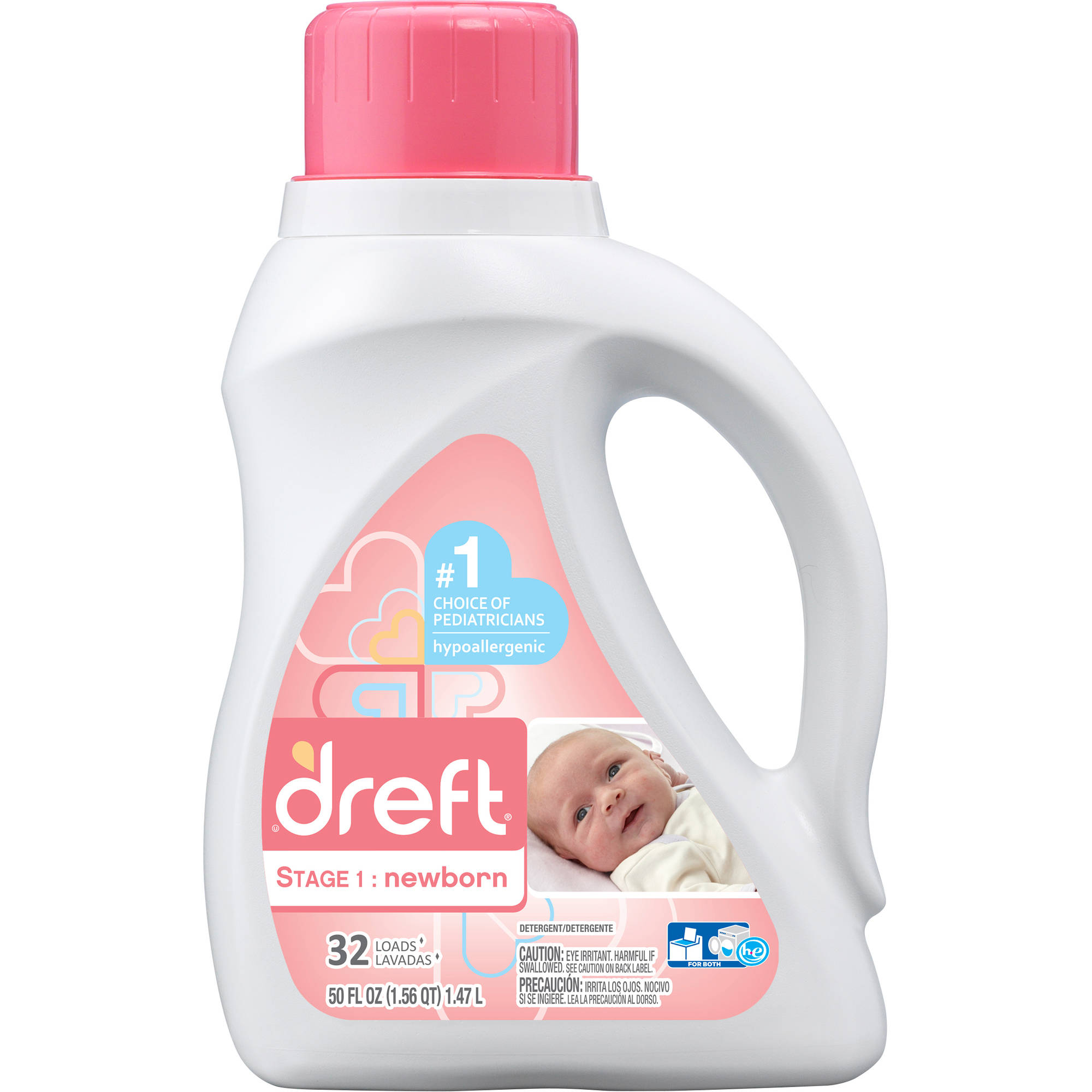 Dreft Stage 1: Newborn Liquid Laundry Detergent, 35 Loads 50 fl oz