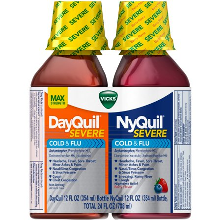 vicks dayquil severe cold flu and nyquil severe cold flu