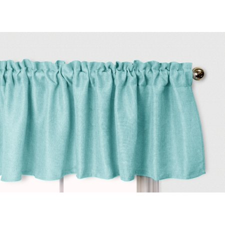 Aiking Home Pure 100% Faux Linen Window Valance - Size 56 inch x 16 inch,