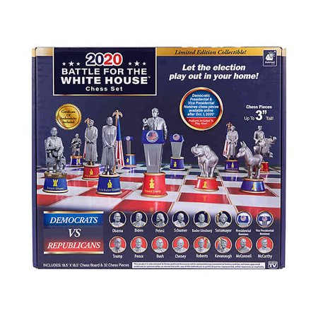 Battle for the White House 2020, As Seen on TV Renaissance Chess Set