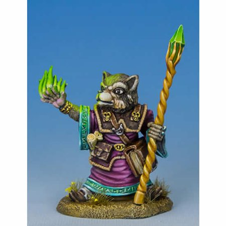 Raccoon Mage With Staff Miniature Critter Kingdoms Dark Sword