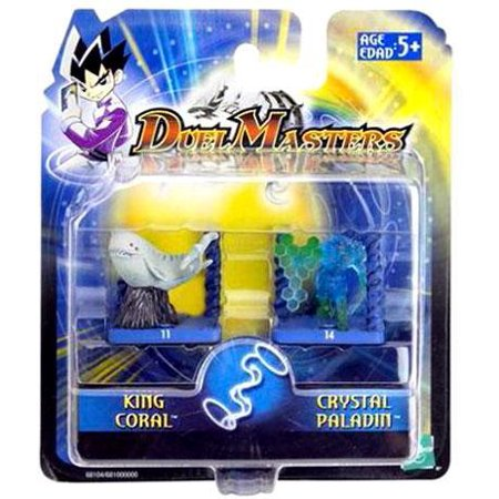 Duel Masters King Coral & Crystal Paladin Mini Figure 2-Pack Duel Masters Base Set