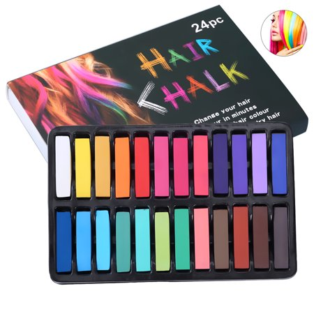 Pretty See Hair Chalk Washable Temporary Hair Chalk Pens Hair Dye Pens for One-time Dyeing, Set of 24](Hair Spray Dye Temporary)