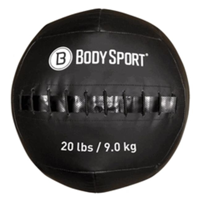 Body Sport ZZRMB20WB 20 lbs Wall Ball, Black