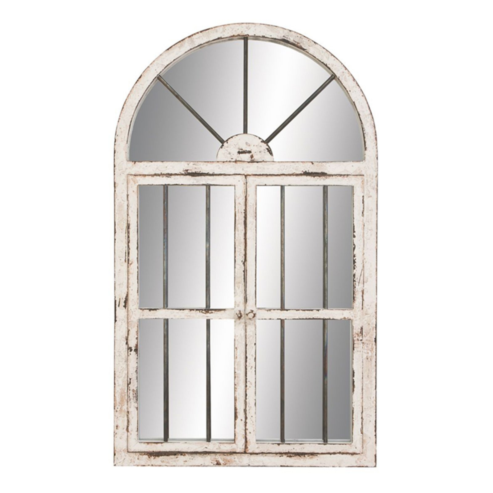 Window Wall Mirror aspire home accents arched window wall mirror - 25w x 42h in