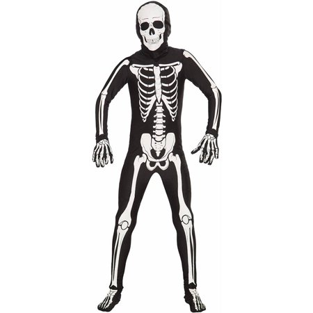 Skeleton Bone Skin Suit Kids Costume - Walmart.com