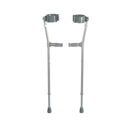 Drive Medical Lightweight Walking Forearm Crutches, Bariatric, 1 Pair Drive Steel Forearm Crutches
