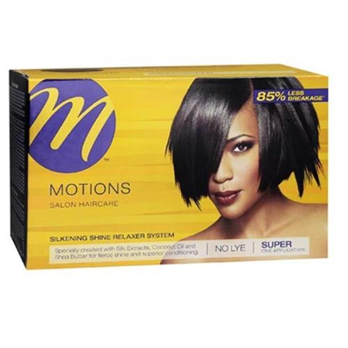 Motions Silkening Shine No Lye Relaxer System Super Kit (Pack of 6)