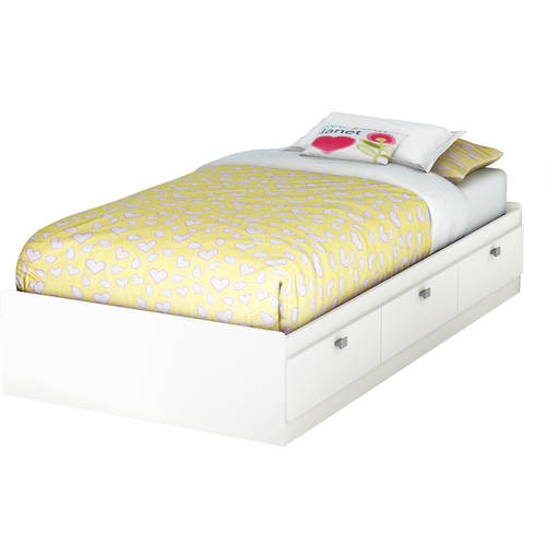 "South Shore Spark Twin 39"" Mates Bed with 3 Drawers, Multiple Colors"