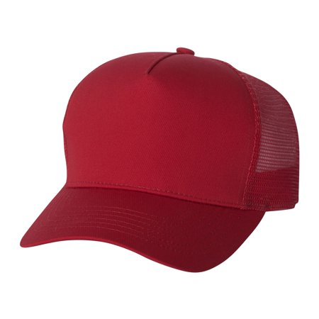 Mega Cap 6886 Five Panel PET Mesh Back Trucker Baseball (Best 5 Panel Hats 2019)