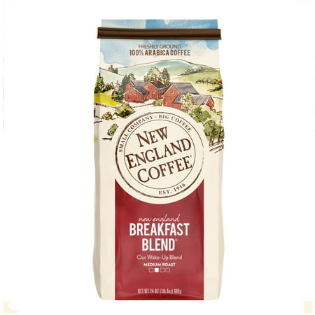 (2 Pack) New England Coffee, Breakfast Blend, 24