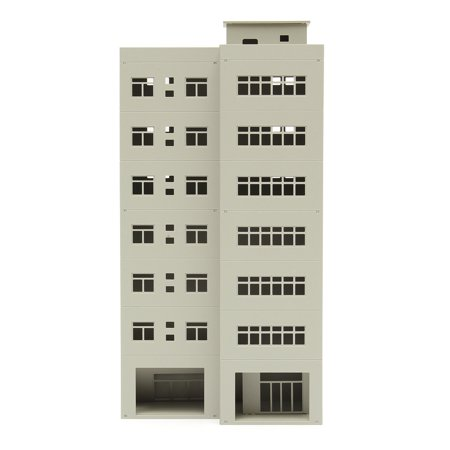 The CityBuilder O Gauge 1:87 Scale Apartment Building Cardboard Model  Making Kit Model Railroad Building