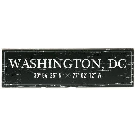 "Barnyard Designs Washington, DC City Sign Rustic Vintage Wood Wall Art Home Decor 17"" x"
