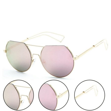 - Trendy Street Fashion Metal Wire 3/4 Round Frame Sunglasses
