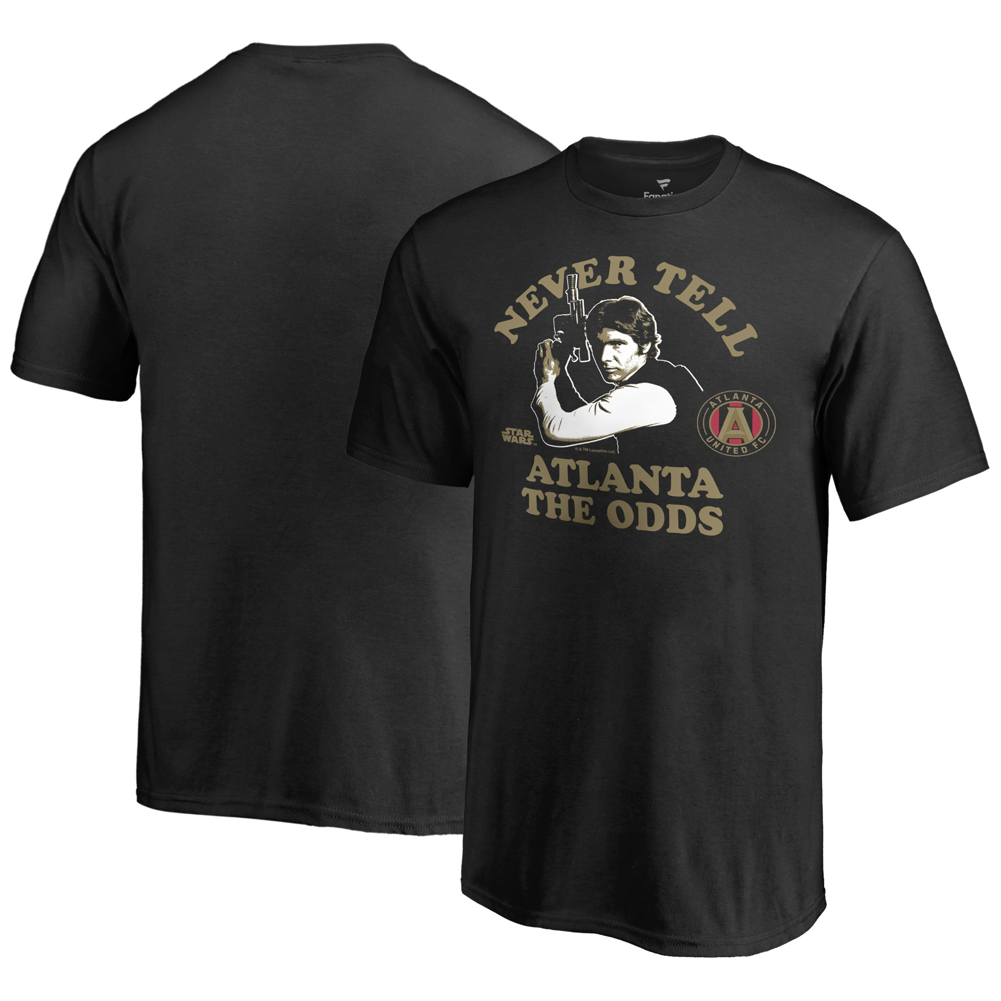 Atlanta United FC Fanatics Branded Youth Star Wars Never Tell the Odds T-Shirt - Black