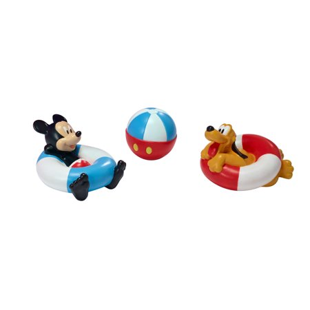 Disney Baby Mickey Mouse Bath Toys, Squirt Toys, 3 Pk