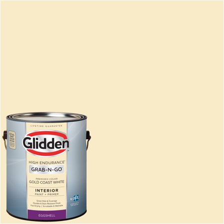 Glidden Pre Mixed Ready To Use Interior Paint And Primer Gold Coast White 1 Gallon
