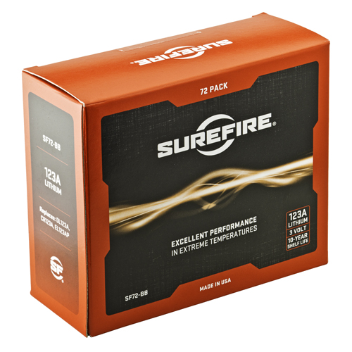 SureFire SF123A, 6 Boxes Of 12 Cells