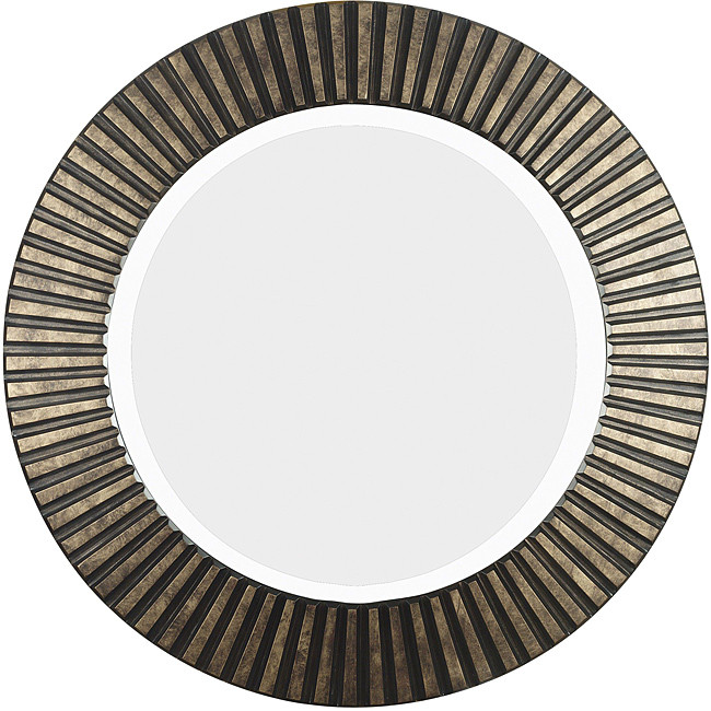 Bronze Wall Mirror this hecate bronze beveled round decorative wall mirror makes a