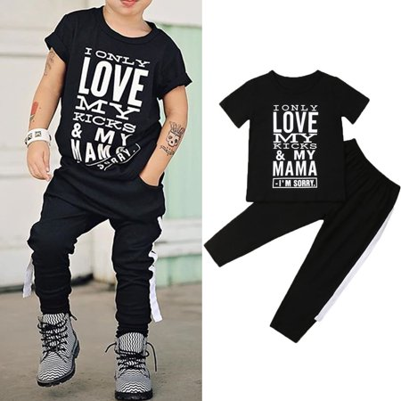 Baby Tracksuit (New Toddler Baby Boy Clothes Short Sleeve T-shirt Top+Pants Outfit Set Tracksuit )