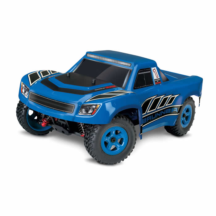 Desert Runner Blue 1 18 Scale Ready To Run Electric Truck RC Model Traxxas by Traxxas RC Models