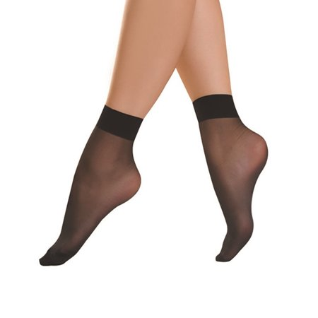 Women Sheer Socks 10 Pairs Black Ankle High Thin Short Socks Associated Sc 10 Short
