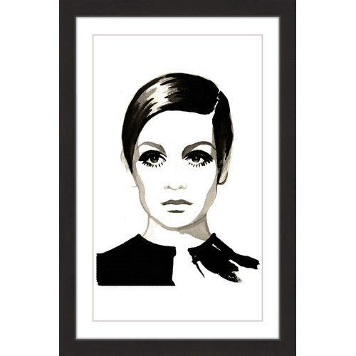 """Twiggy"" Framed Painting Print"