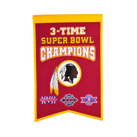 Winning Streak - NFL Champions Super Bowl Banner, Washington Redskins
