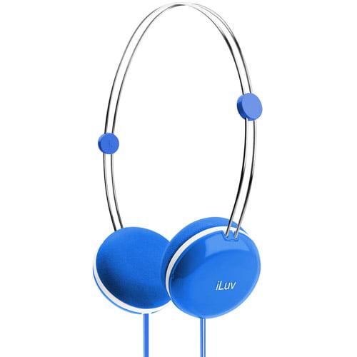 jWIN IHP613BLU High-Fidelity Stereo Headphones with SpeakEZ Remote, Blue