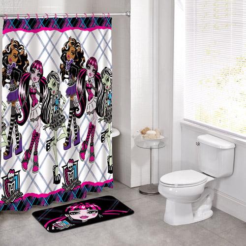 Licensed 14pc bath set monster high for Bathroom decor at walmart