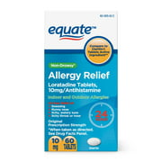 Equate Allergy Relief Tablets, 10 mg, 60 Count