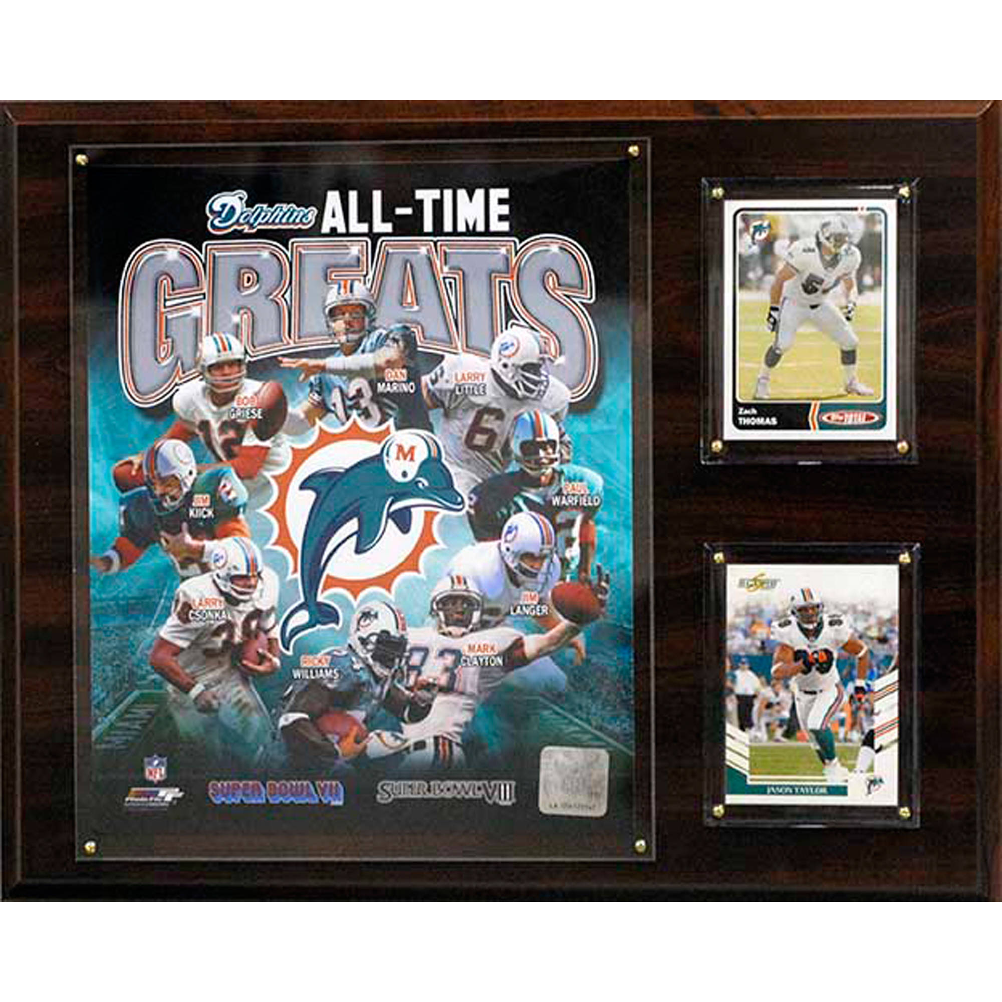 C&I Collectables NFL 12x15 Miami Dolphins All-Time Great Photo Plaque