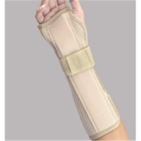 10 In. Perforated Suede Wrist & Forearm Splint Right Beige, Large