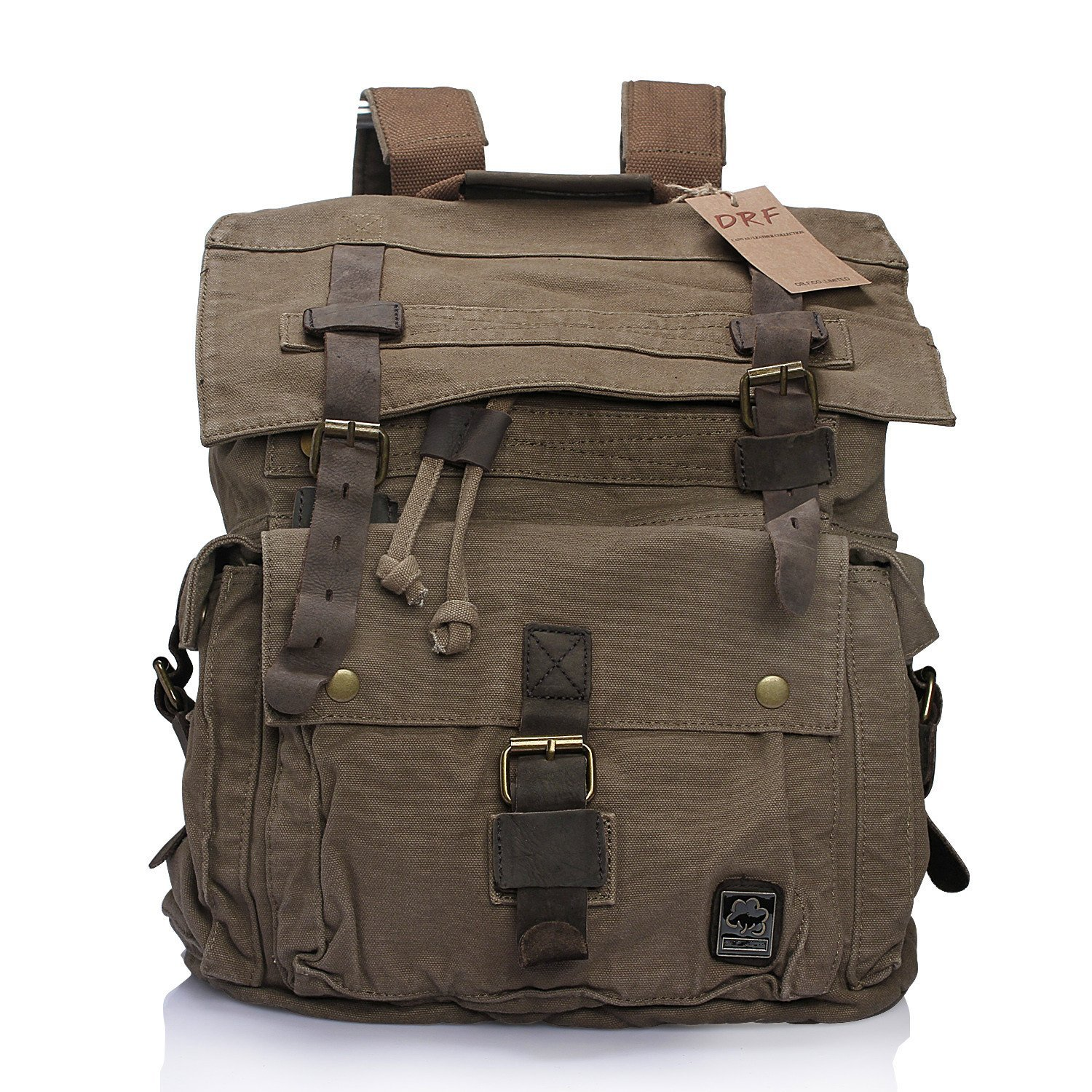 Canvas Products DRF Canvas Rucksack Men Backpack Purse Vi...