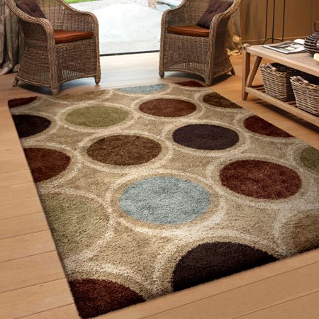 Orian rugs soft shag marble multi colored area rug for 7 x 9 dining room rugs
