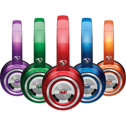 Monster 128506-00 NCredible NTune On-Ear Headphone - Binaural - Integrated Microphone - ControlTalk Universal - Wired - Candy Red