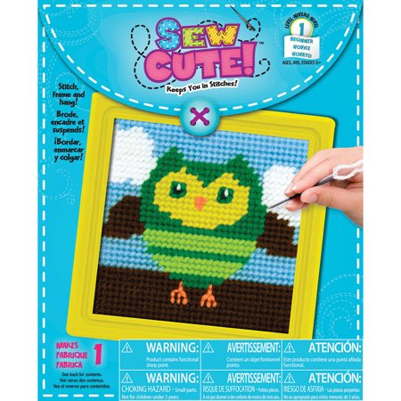 Owl Learn To Sew Needlepoint Kit, 6