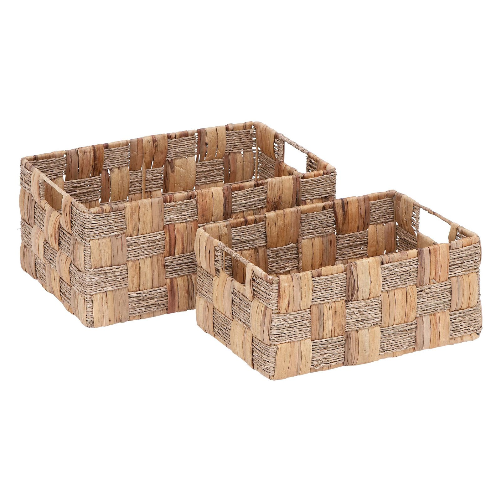 Woodland Imports Wicker Baskets - Set of 2
