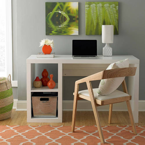 Amazing Better Homes And Gardens Cube Organizer Desk, Multiple Finishes    Walmart.com Design