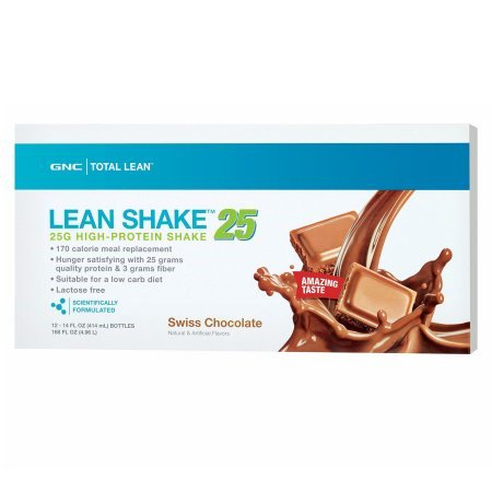 Gnc Total Lean Lean Shake 25 Ready To Drink Shakes  14 Fl  Oz   12 Bottles