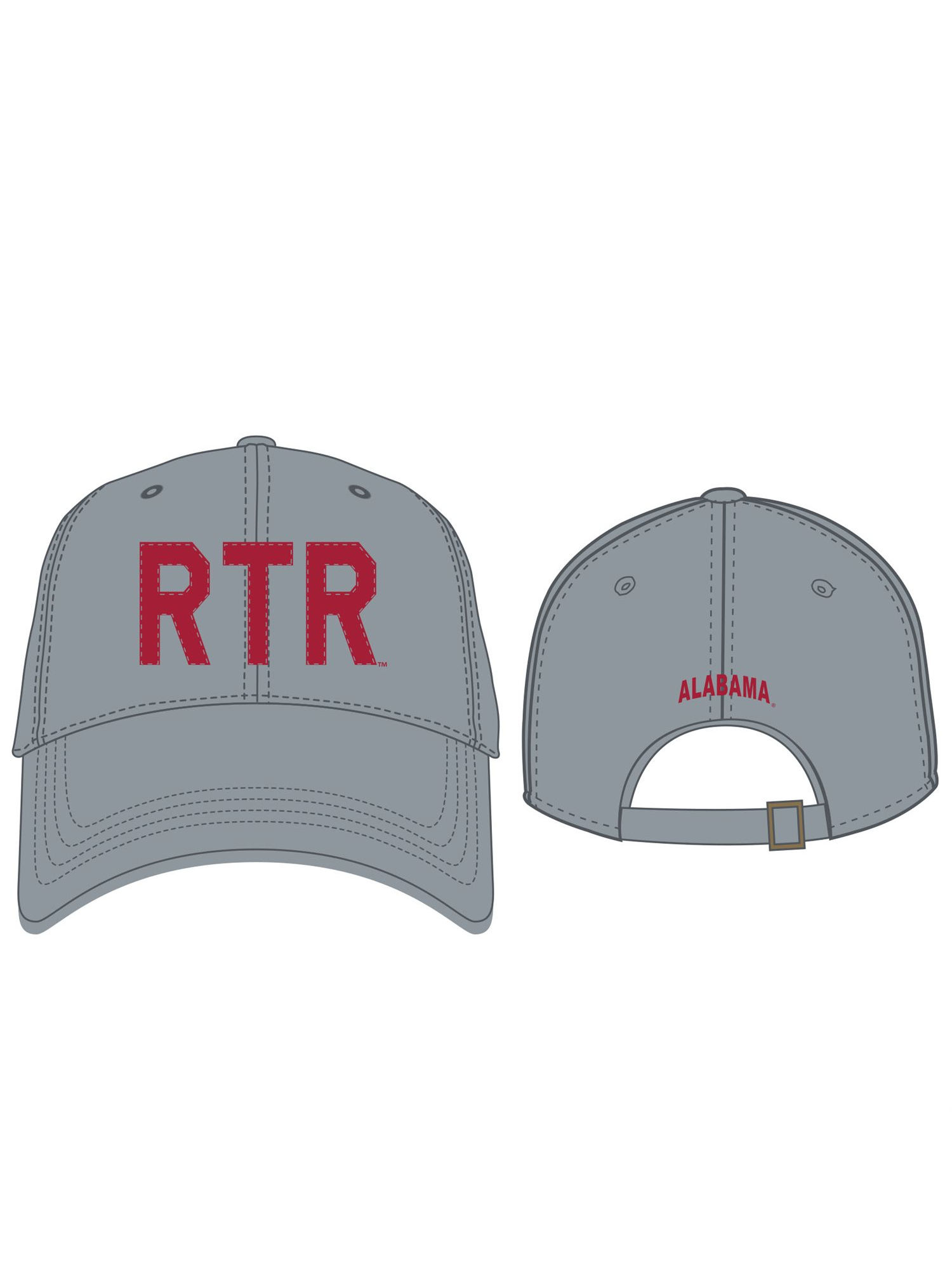 cd618718c58 ... store alabama crimson tide official ncaa adjustable district hat cap  curved bill by top of the