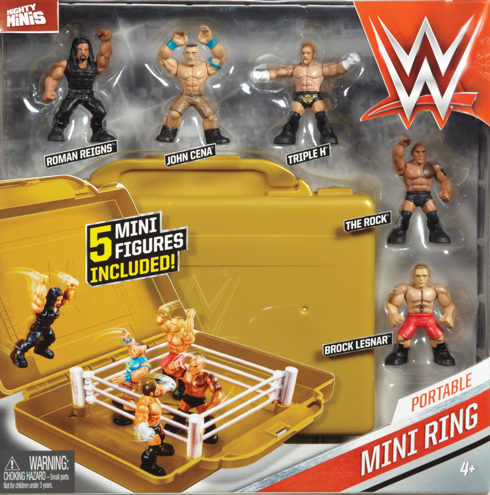 Wwe Mighty Minis Ring Playset W 5 Mini Figures Wwe Toy Wrestling