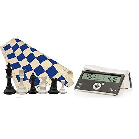 Tournament Chess Set - 34 Chess Pieces - Blue Chess Board (20