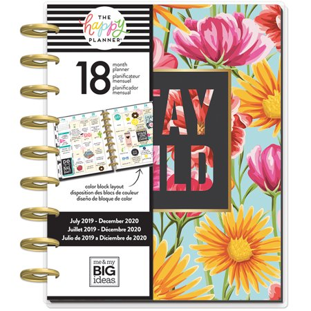 Me & My Big Ideas The Happy Planner Classic 18 Mo Happy Flowers