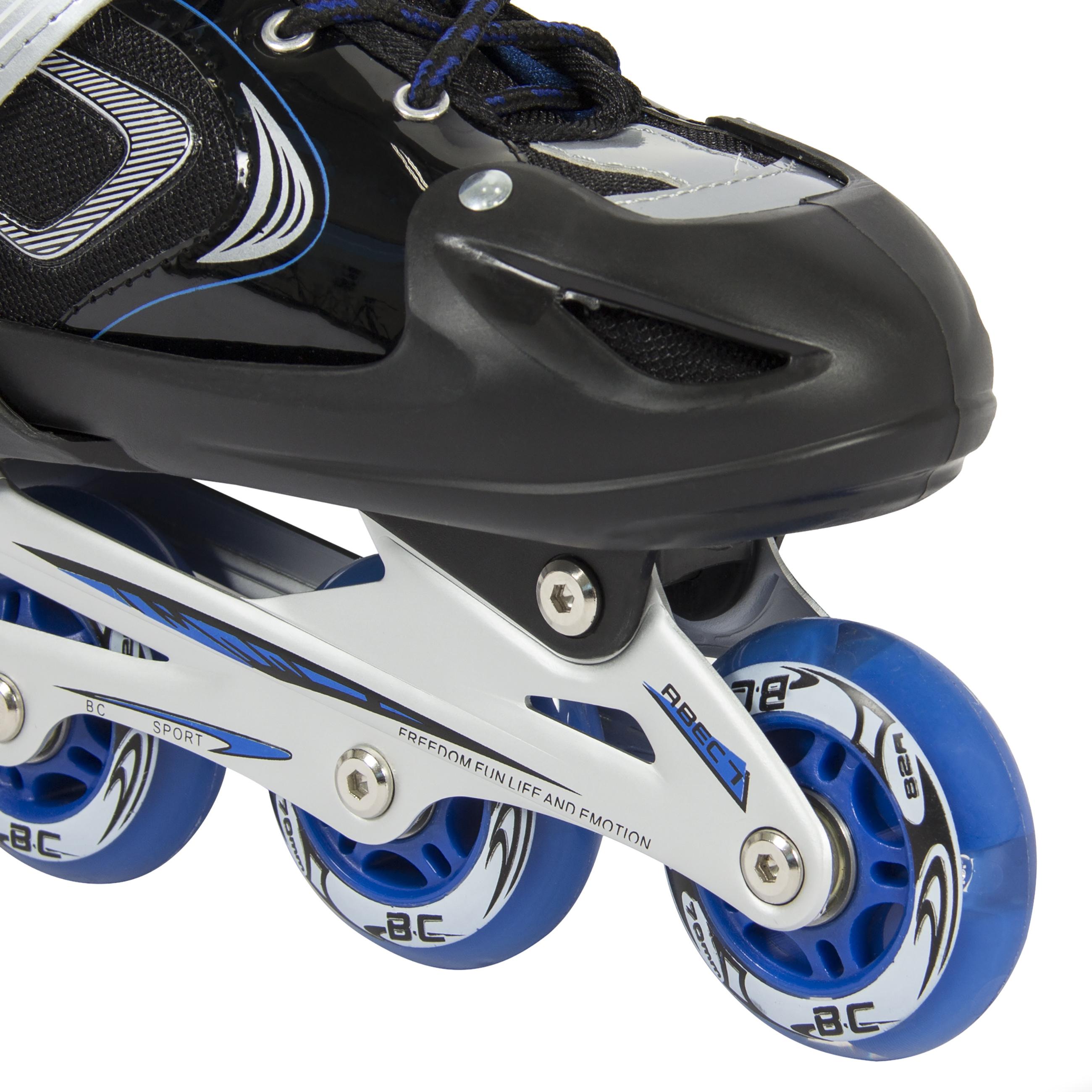 Pop out roller skate shoes - Bcp Adjustable Kid Inline Skates Roller Blades Iluminating Outdoor Sport Blue Walmart Com