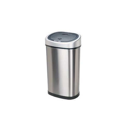 Nine Stars DZT-50-9 13.2 Gallon Oval Shaped Trash Can with Infrared Motion Senso
